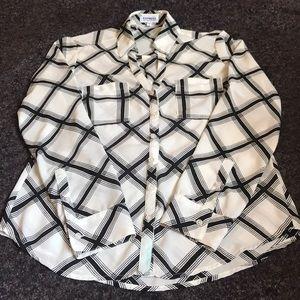 EXPRESS Portfino Button Up Shirt Convertible Sleev